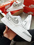 Мужские кроссовки Nike Air Force 1 Low Under Construction White/Grey, фото 6