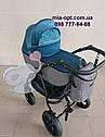 Детская коляска 2 в 1 Classik Len(Классик Лен) Victoria Gold графит бирюза, фото 2