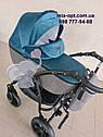 Детская коляска 2 в 1 Classik Len(Классик Лен) Victoria Gold графит бирюза, фото 3