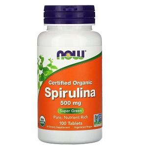 Спирулина Now Organic Spirulina 500 mg (100 таблеток.)