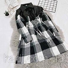 Платье комбинированное с эко-кожей / арт.388, фото 3