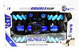Машинка-перевертыш Stunt трюковый автомобиль с управлением с руки синяя, фото 2
