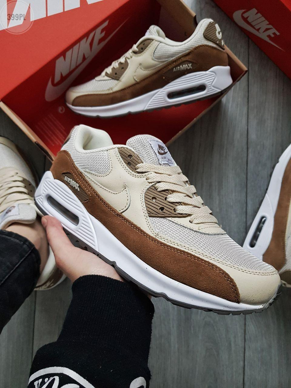 Мужские кроссовки Nike Air Max 90 Beige/Brown