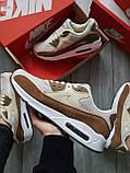 Мужские кроссовки Nike Air Max 90 Beige/Brown, фото 4