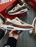 Мужские кроссовки Nike Air Max 90 Beige/Brown, фото 6
