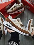 Мужские кроссовки Nike Air Max 90 Beige/Brown, фото 8