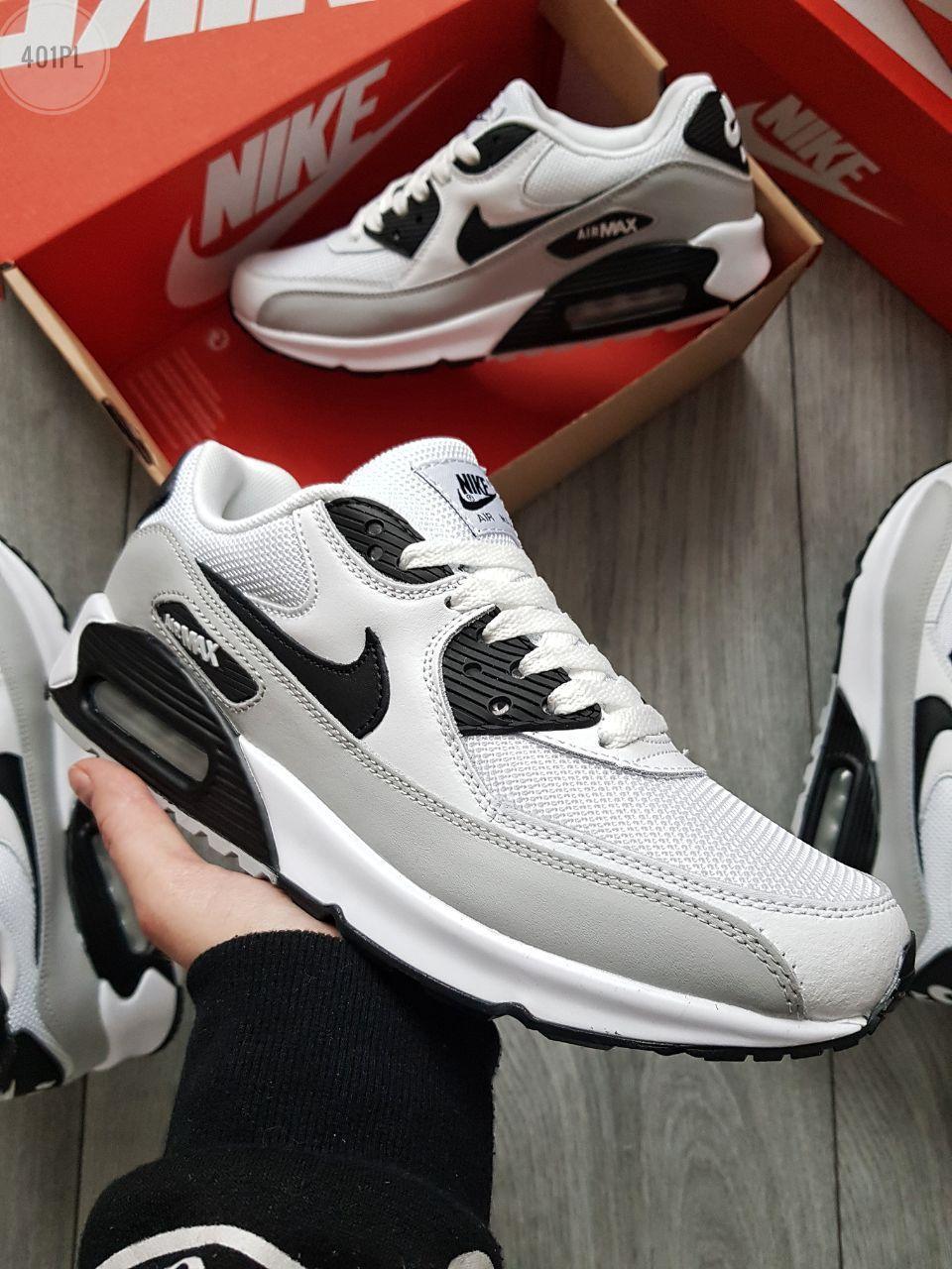 Мужские кроссовки Nike Air Max 90 White/Grey