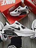 Мужские кроссовки Nike Air Max 90 White/Grey, фото 6