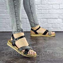 Женские стильные босоножки Fashion Elen 1051 38 размер 24 см Черный, фото 2