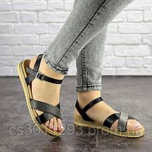 Женские стильные босоножки Fashion Elen 1051 38 размер 24 см Черный, фото 3