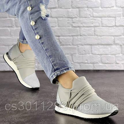 Женские стильные кроссовки Fashion Ringer 1036 36 размер 22,5 см Серебристый, фото 2