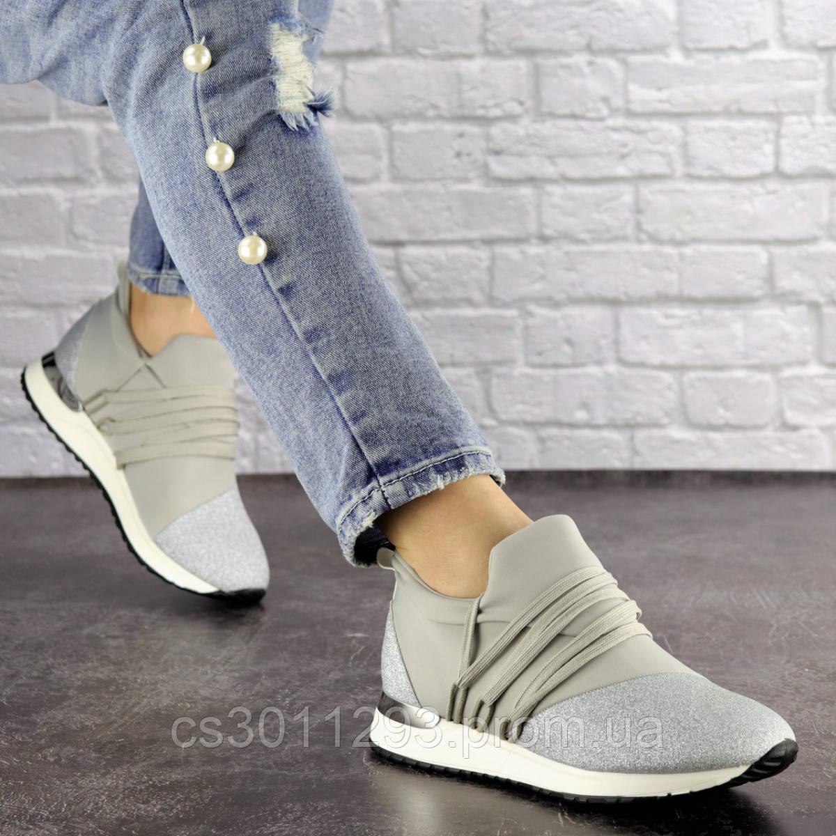 Женские стильные кроссовки Fashion Ringer 1036 36 размер 22,5 см Серебристый