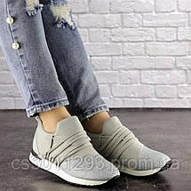 Женские стильные кроссовки Fashion Ringer 1036 36 размер 22,5 см Серебристый, фото 3