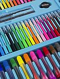 Художественный набор для творчества 208 предметов с мольбертом для детей в удобном чемодане, фото 6