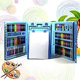 Художественный набор для творчества 208 предметов с мольбертом для детей в удобном чемодане, фото 9