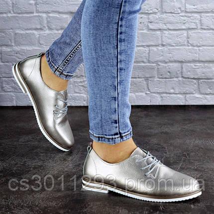 Женские туфли кожанные серебристые Cisco 1927 (39 размер), фото 2