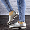 Женские туфли кожанные серебристые Cisco 1927 (39 размер), фото 3