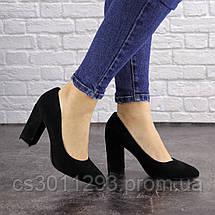 Женские туфли на каблуке Fashion Cassidy 1563 36 размер 23,5 см Черный, фото 3
