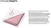 Полотенце махровое с капюшоном BabyOno 100х100 см Месяц (розовое), фото 6