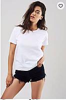 Женская однотонная базовая футболка (мята,серый, пудра,розовый,графит, синий, красный,бордо,черный,белый до 54, фото 1