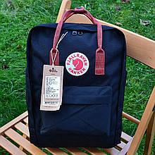 Рюкзак шведской марки Kanken Fjall Raven 16L Dark Blue/Red