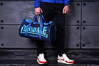 Вместительная спортивная сумка Lonsdale London. Для тренировок. Синяя с голубым, фото 3