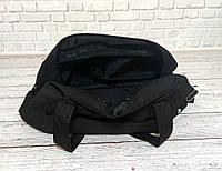 Спортивная, дорожная сумка рибок, Reebok с плечевым ремнем. Черная, фото 6