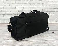 Спортивная, дорожная сумка рибок, Reebok с плечевым ремнем. Черная, фото 8