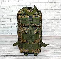 Тактический, походный рюкзак Military. 25 L. Камуфляжный, пиксель, милитари.  / T412, фото 9