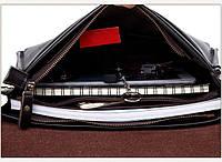 Качественная мужская сумка через плечо Polo Videng, поло. Черная. 24x21x7, фото 5