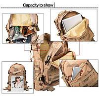 Тактический, походный рюкзак Military. 30 L. Черный, милитари.  / T402, фото 9