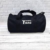 Спортивная сумка бочонок Triumph Bag. Для тренировок, путешествий. Черная, фото 2