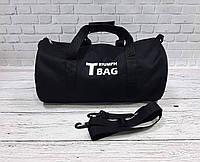 Спортивная сумка бочонок Triumph Bag. Для тренировок, путешествий. Черная, фото 3