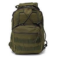 Тактическая сумка-рюкзак, барсетка на одной лямке, хаки. T-Bag 3, фото 2
