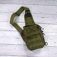 Тактическая сумка-рюкзак, барсетка на одной лямке, хаки. T-Bag 3, фото 3