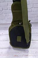 Тактическая сумка-рюкзак, барсетка на одной лямке, хаки. T-Bag 3, фото 7