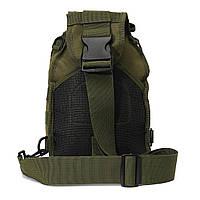 Тактическая сумка-рюкзак, барсетка на одной лямке, хаки. T-Bag 3, фото 9