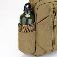 Тактическая сумка-рюкзак, барсетка, бананка на одной лямке. Койот. T-Bag 447, фото 9