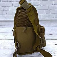 Тактическая сумка-рюкзак, барсетка, бананка на одной лямке. Койот. T-Bag 447, фото 10