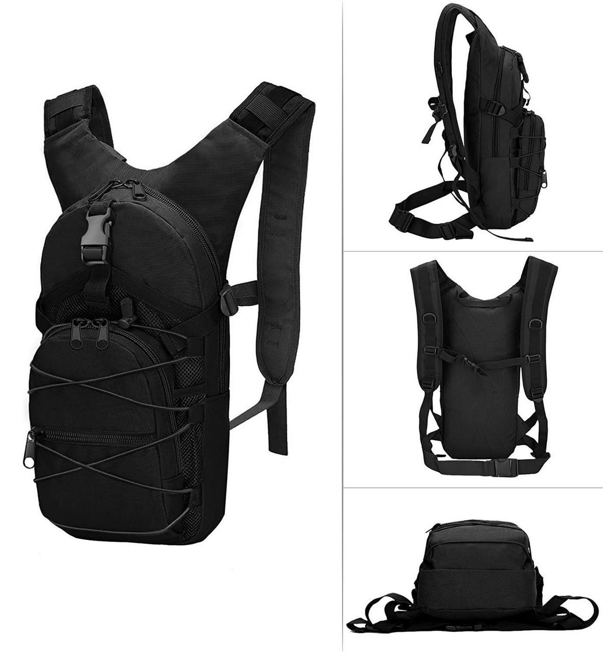 Качественный тактический рюкзак, туристический, велосипедный. Черный