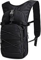 Качественный тактический рюкзак, туристический, велосипедный. Черный, фото 4