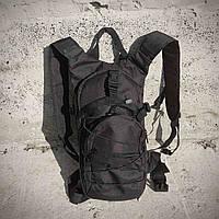Качественный тактический рюкзак, туристический, велосипедный. Черный, фото 8