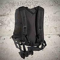 Качественный тактический рюкзак, туристический, велосипедный. Черный, фото 9