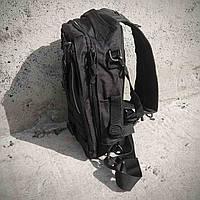 Черная тактическая сумка-рюкзак, мессенджер, барсетка., фото 4