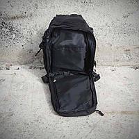 Черная тактическая сумка-рюкзак, мессенджер, барсетка., фото 6
