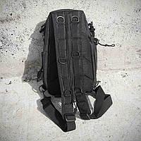 Черная тактическая сумка-рюкзак, мессенджер, барсетка., фото 7