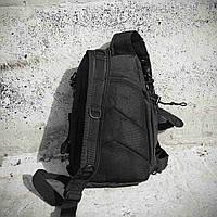 Черная тактическая сумка-рюкзак, мессенджер, барсетка., фото 9