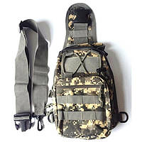Тактическая сумка-рюкзак, барсетка, бананка на одной лямке, пиксель., фото 3