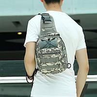 Тактическая сумка-рюкзак, барсетка, бананка на одной лямке, пиксель., фото 4