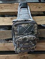Тактическая сумка-рюкзак, барсетка, бананка на одной лямке, пиксель., фото 7